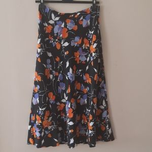 Joie Floral 100% Silk Skirt